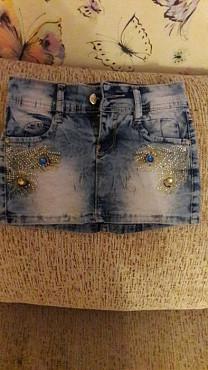Продам джинсовую юбочку на девочку Петропавловск