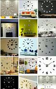 Настенные 3D часы ХИТ товар 3д часы для декора не обычн - дизайн!!! Актау