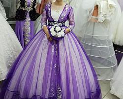 Прокат. Платье+накидка +серги, брослет, карона фиалетовый (набор) Аксай