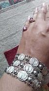 Старинный браслет чистое серебро винтаж Тараз