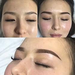 Перманентный макияж с выездом 6000 тг(брови, губы,стрелки) Нур-Султан