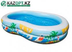 """Детский надувной бассейн Intex """"Лагуна"""", 262 х 160 х 46 см Нур-Султан"""