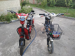 Электрический вело мопед скутер Алматы