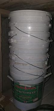 Ведро 25л-чистые от строй. материалов Шымкент