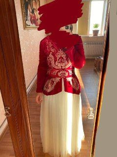 Казахское платье на бесиктой, кудалык, сырга салу. Длинное, нарядное Атырау