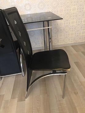 Стеклянный стол со стульями Алматы