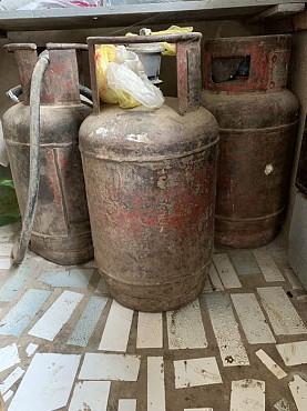 Газовые баллоны пропан 12 литровые 3 штуки б/у Шымкент