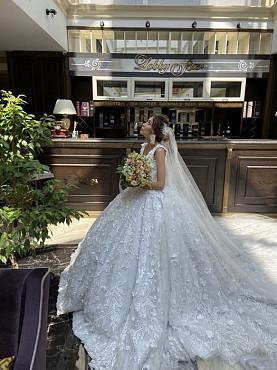 Шикарное свадебное платье от Nailya Baykuchukova. Семей