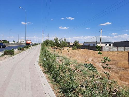 Участок мкрн Нуртас с фундаментом вдоль Алматинской Трассы 10 соток Шымкент