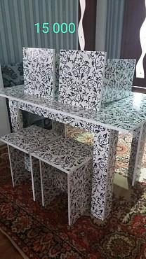 Столы кухонные +табуреты новые с доставкой Шымкент