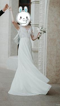 Элегантное свадебное платье Атырау