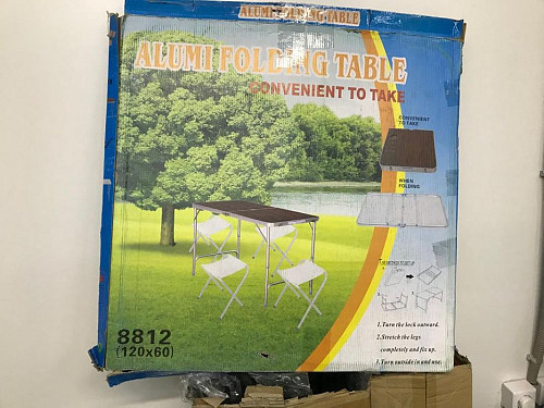 Стол складной 120 * 60 и 4 стула Alumi folding Table Актобе