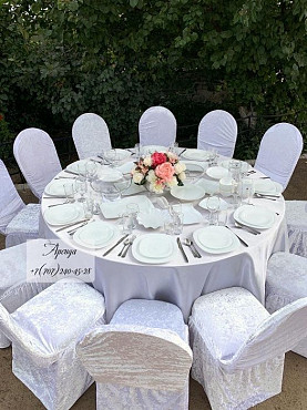 Аренда столов стульев посуды и шатров Алматы
