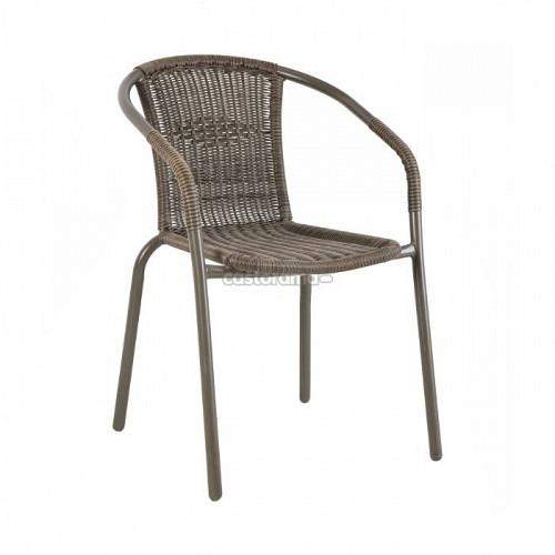 Кресло садовое Blooma Bari, 52,5 х 52,5 х 76 см, исксственный ротанг Костанай
