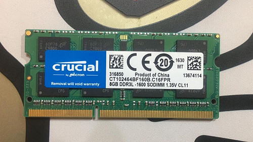 ОЗУ для ноутбука 8Gb DDR3L 1600 Усть-Каменогорск