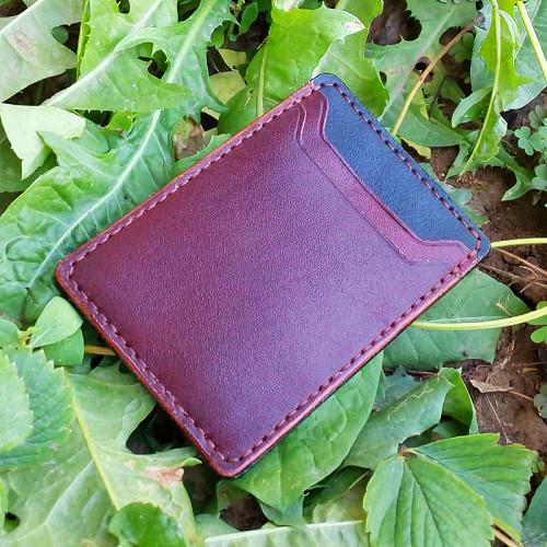 Компактный кожаный кошелёк кардхолдер Шымкент