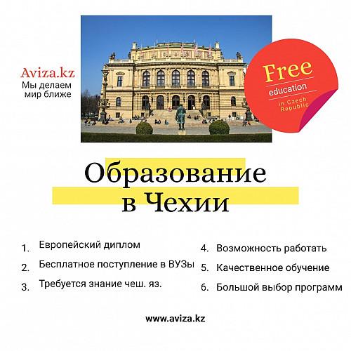 Языковые курсы в Чехии для поступления в ВУЗы страны на бесплатной основе! Алматы