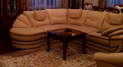 Кожаный диван и кресло Нур-Султан