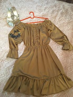 Шикарное шелковое платье на выход Актобе