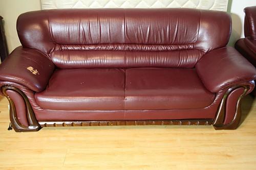 Продам кожаную мебель - тройку: диван большой, диван средний, кресло Нур-Султан