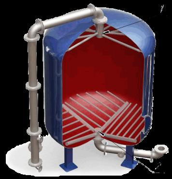 Дренажные системы (ДРУ) щелевого типа для фильтров ФИПа, ФОВ, ФСУ, колпачки щелевые Алматы