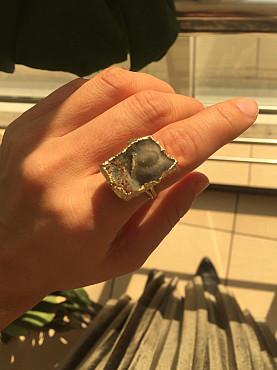 Кольцо с натуральным камнем из Черного Море Алматы