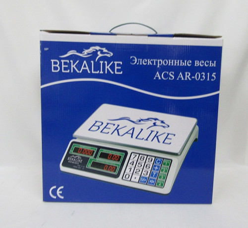 Весы электронные со счетчиком цены BEKALIKE (ACS-AR-0315) металл Алматы