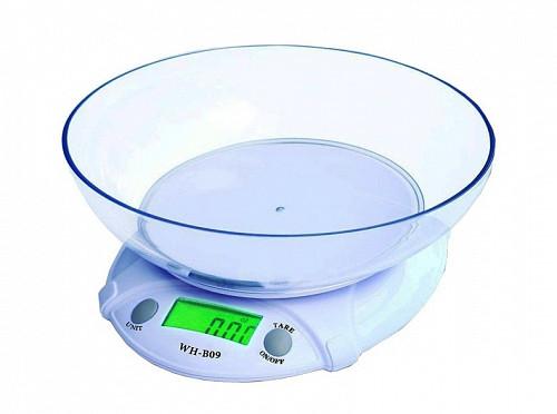 Кухонные электронные весы с чашей WeiHeng WH-B09, от 1 гр. до 7 кг Алматы