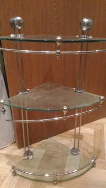 Этажерка стеклянная в ванную комнату Алматы