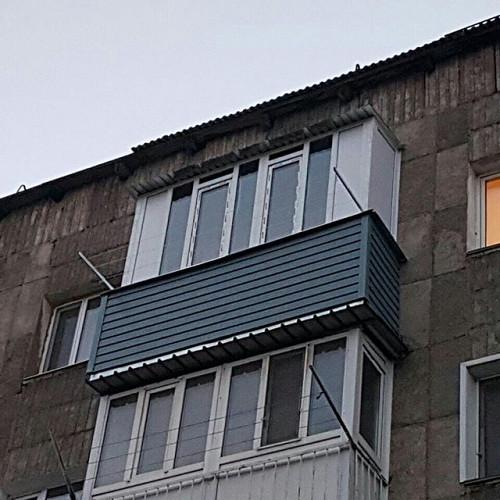 Крыша на балкон с отделкой потолка Караганда
