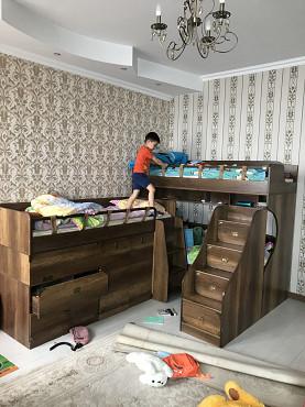 Детские кроватки для троих детей дерево Алматы