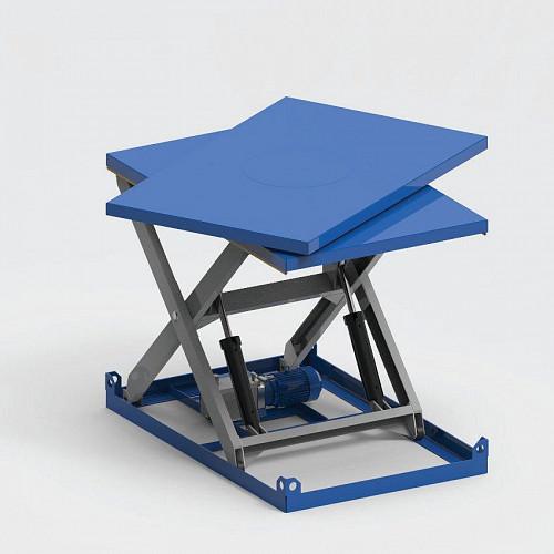 Гидравлический подъемный стол с поворотной платформой Алмалы