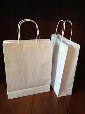 Бумажные пакеты из бурого и белого крафта Алматы