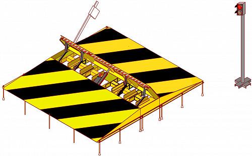Блокиратор дорожный, противотаранное устройство (накладной, врезной в ассортименте) Нур-Султан