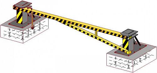 Шлагбаум противотаранный (горизонтально-поворотный, вертикально-поворотный в ассортименте) Нур-Султан