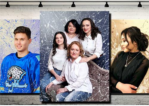 Подарок портрет на заказ, картины, модульные картины Усть-Каменогорск