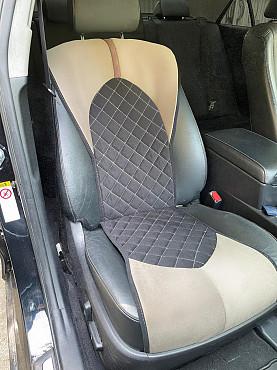Чехлы в авто на Toyota Camry 50/55/70 которые полностью повторяют форму и дизайн кресла Алматы