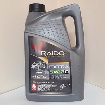 RAIDO Extra 5W-30 - синтетическое моторное масло Алматы