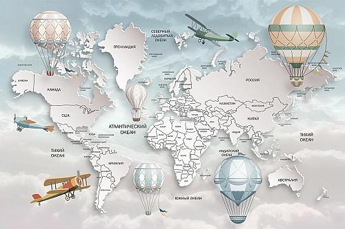 Фотообои карта мира Жанаозен