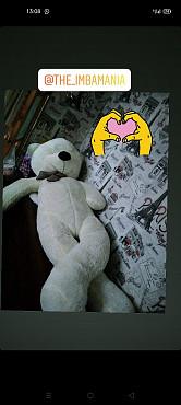 продается белый большой медведь Алматы