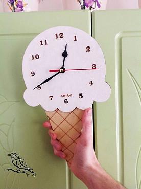 """Часы """"мороженое"""" будет отлично смотреться в детской комнате. Алматы"""