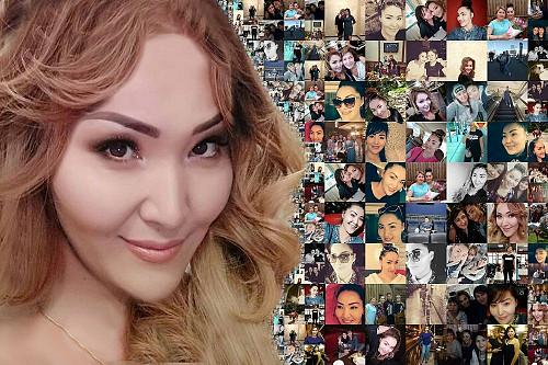 Фотомозайка/60+40-3900 фотоколлаж/подарок на день рождении/мозайка Алматы